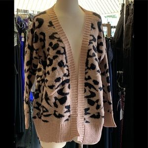BOUTIQUE Sweaters - NEW LEOPARD PRINT CARDIGAN